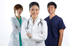 A team of a happy Asian Doctors Royalty Free Stock Photos