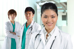 A team of a happy Asian Doctors Stock Photos