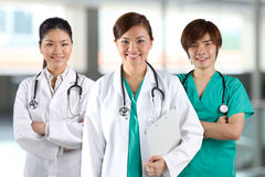 A team of a happy Doctors Stock Image