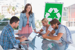 Team having meeting about eco policy Stock Photography