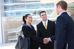 Team het bedrijfs van de Man en van de Vrouw Stock Foto