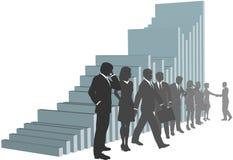 Team het bedrijfs van Mensen met de Grafiek van de Groei Stock Foto's