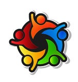 Team Hi 5 logo stock illustrationer