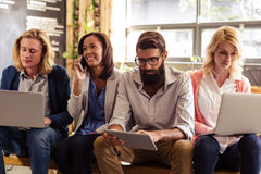 Team of hipsters working Royalty Free Stock Images
