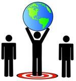 Team hitting global target Stock Images