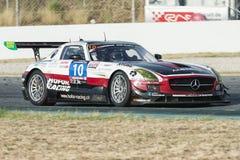 Team HoforRacing Amg gt3 degli sls di Mercedes 24 ore di Barcellona Fotografie Stock