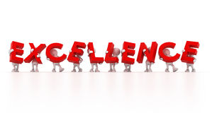 Team holding Excellence word Royalty Free Stock Images