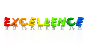 Team holding Excellence word Stock Photos