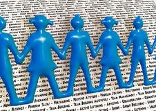 Team holding hands keywords teamwork better together. Stock Image