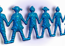 Team holding hands keywords teamwork better together. Stock Image