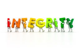 Team holding Integrity word Stock Photos
