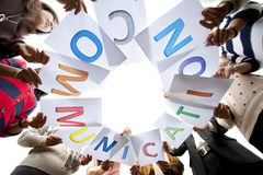 Team  communication  for business purpose Stock Photo