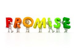 Team holding Promise word Royalty Free Stock Photo