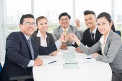 We are the team! Royalty Free Stock Photography