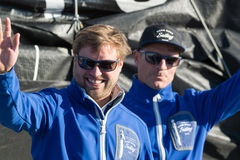 Team Hugo Boss. Barcelona World Race, Royalty Free Stock Photography
