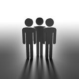 Team of Human Figures Standing Before the Big Changes Royalty Free Stock Photos
