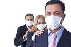 Team with hygienic masks Stock Image