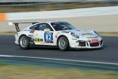 Team Icer Brakes Porsche 991 kopp 24 timmar av Barcelona Arkivbild