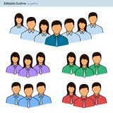 Team icon, Leader icon, Team lead, Professional group, Corporate team work, Collaboration, Manager, Corporate group, Editable str. Team icon, Team lead vector illustration