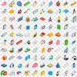100 team icons set, isometric 3d style Royalty Free Stock Image