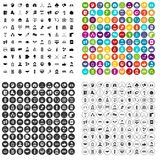 100 team icons set vector variant. 100 team icons set vector in 4 variant for any web design isolated on white Stock Images