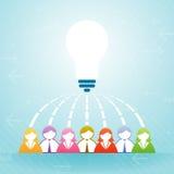 Team Idea Collaboration vektor abbildung