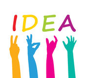 Team with ideas. Different ideas of color working team Stock Photo