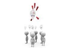 Team-Ideenkonzept des Mannes 3d Lizenzfreies Stockbild