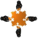 Team il fabbricato un puzzle Fotografie Stock