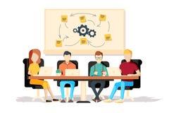 Team il lavoro insieme su una giovane impresa grande dell'IT royalty illustrazione gratis