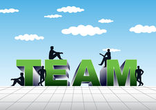 Team illustration Royalty Free Stock Photos