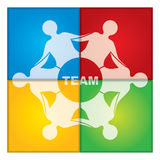 Team illustration Royalty Free Stock Photo