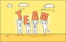 Team Image Outdoors sur le jaune d'illustration de vecteur illustration libre de droits