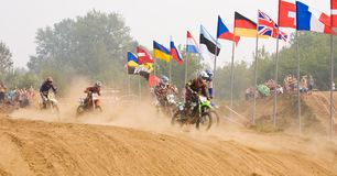 Team IMBA Cup of Nations (motocross) in Vladimir Stock Photo