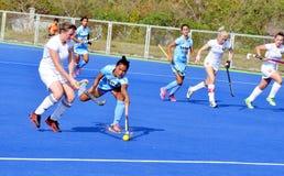 Team India besiegte Weißrussland durch 2-1 in women's Hockey Lizenzfreies Stockbild