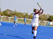 Team India besiegte Weißrussland durch 2-1 in women's Hockey Lizenzfreie Stockfotos