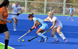 Team India verslagen Wit-Rusland door 2-1 in women'shockey Stock Afbeeldingen