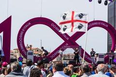Team inledning på den 100. `-Italia för Postgirot D invigningsdagen Royaltyfri Bild
