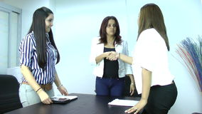 Team introductions. Meeting and business concept stock footage