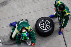 Team Ireland pit-stop and tire change Royalty Free Stock Photos
