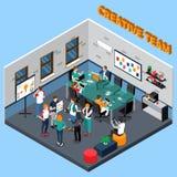 Team Isometric Illustration créatif Photos stock
