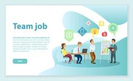 Team Job Employees Listening a dirigir na conferência ilustração stock