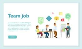 Team Job, pessoa que escuta para dirigir na conferência ilustração royalty free
