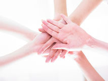 Team join hands Royalty Free Stock Photography