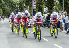 Team Katusha - Team Time Trial 2015 Fotografia Stock