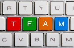 Team On Keyboard Fotografia Stock Libera da Diritti