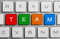 Team On Keyboard Royalty Free Stock Photography