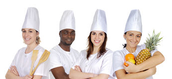 Team of kitchen Stock Image
