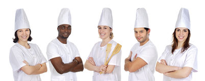Team of kitchen royalty free stock photography