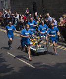 Team 10 knaresborough bed race 2015 Stock Photography